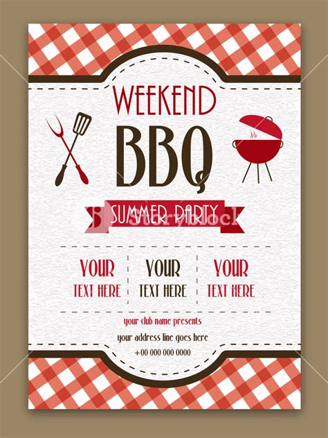 weekend bbq party invitation summer party flyer barbecue