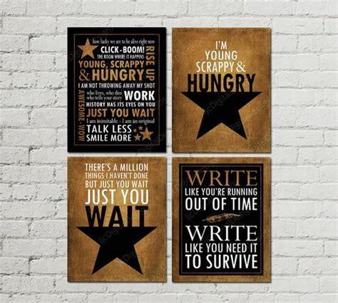 printable set  hamilton musical quotes
