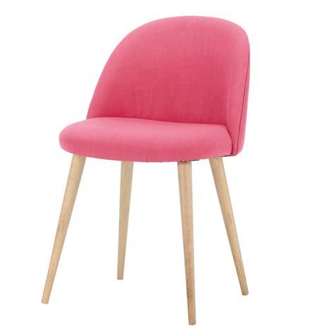 chaise vintage maison du monde chaise vintage en tissu et bouleau massif fuchsia