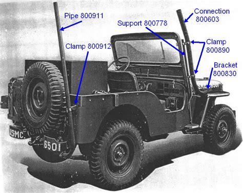 jeep snorkel exhaust cjv 35 u underwater ventilation system