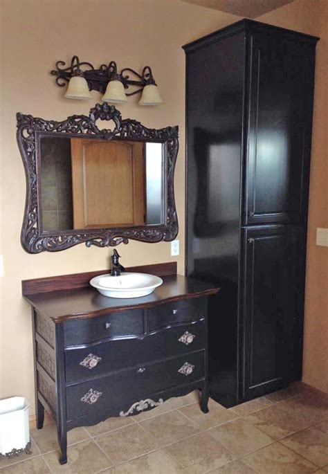 bathroom transformation  lamp black milk paint  java