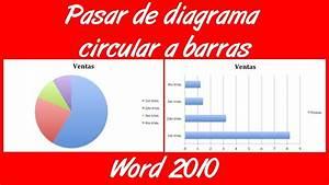 Como Pasar De Un Diagrama Circular A Barras En Word 2010
