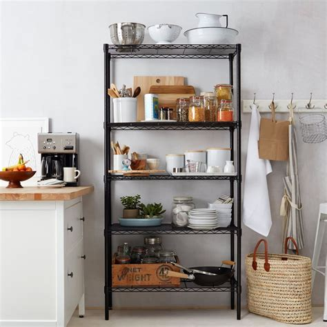 kitchen shelf storage home kitchen garage wire shelving 5 shelf storage rack 2535