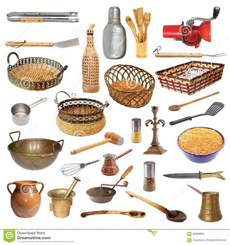 objets de cuisine collection de différents ustensiles et objets de cuisine