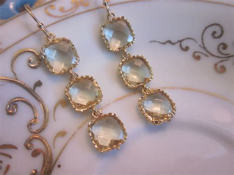 Wedding Jewelry Gold : Citrine Earrings Yellow Gold