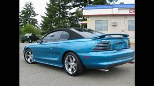 1995 Ford Mustang GT Convertible For Sale Cheap w/ Custom Paint, Interior & Seats - $3,995 - YouTube