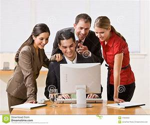 Business People Looking At Computer Stock Photography ...
