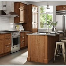 Madison Base Cabinets In Cognac  Kitchen  The Home Depot