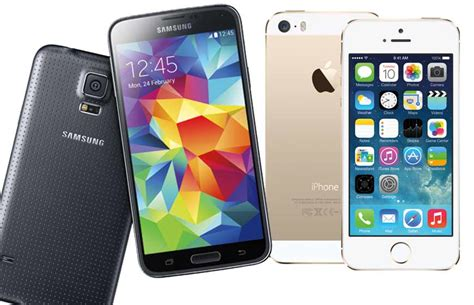 samsung galaxy s5 vs iphone 5s samsung galaxy s5 vs apple iphone 5s rival flagships