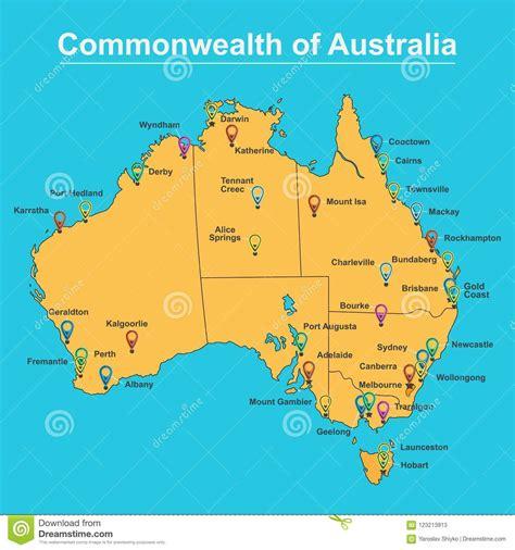 australia cities map business ratingorg