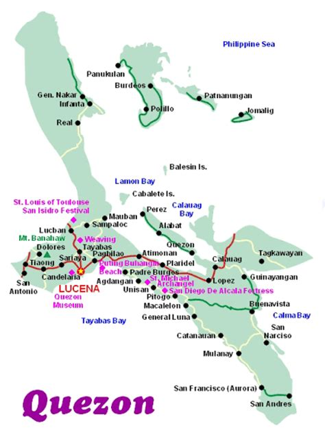 maps map quezon province