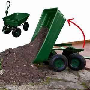 Chariot remorque de jardin vert basculant chariots et for Remorque jardin