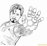 Stark Tony Coloring Pages Avengers Printable Thanos Team Members Coloringpagesonly sketch template