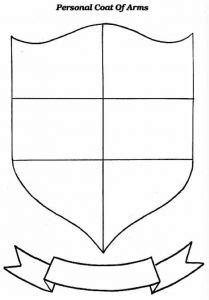 coat of arms template worksheet 3 conference theme