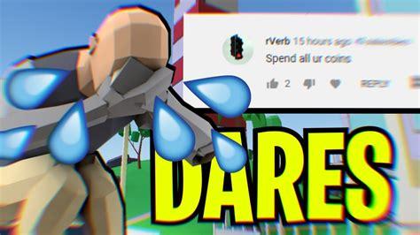 dares  challenges  strucid roblox youtube