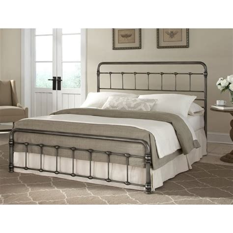 fashion bed snap fremont full metal bed in weathered