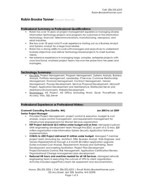 Exle Summary For Resume professional summary for resume by sgk14250 cover latter
