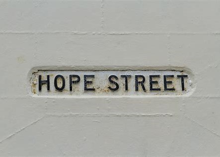 Image result for Hope street sign