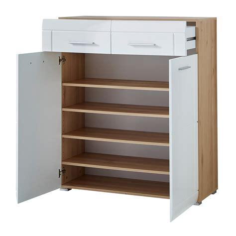 poignees meuble cuisine meuble à chaussures 20 paires en bois avec 2 tiroirs et 2