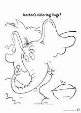 Seuss Coloring Dr Pages Printable Horton Hears Worksheets Rhyming Paste Kindergarten Cut Getcolorings Excel Db sketch template