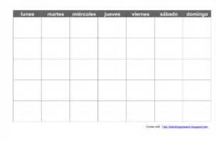 Blank Spanish Calendar Template