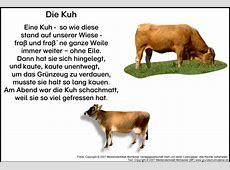 Gedicht Die Kuh MedienwerkstattWissen © 20062017