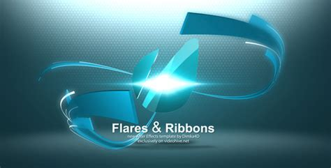 flares ribbons logo reveal by dimka4d videohive