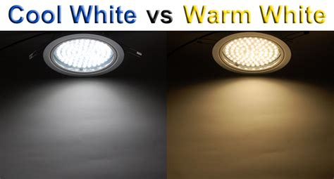 difference between cool white and warm white led lights