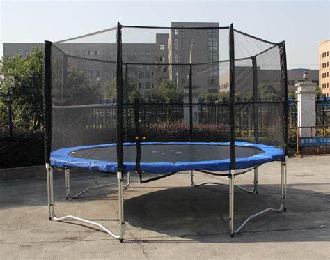 feet outdoor trampoline enclosure set  safety net
