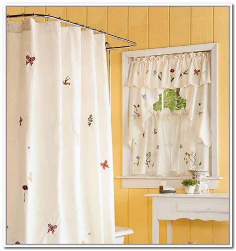 Hooklessreg Waffle 45 Inch Bath Window Curtain  In Shower