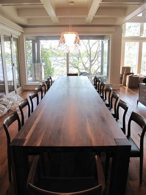 solid walnut dining table long dining room tables long