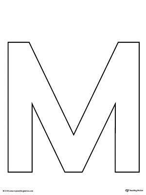 uppercase letter  template printable art preschool