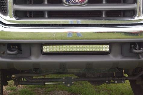 a ford f250 with a 21 quot performance series led light bar