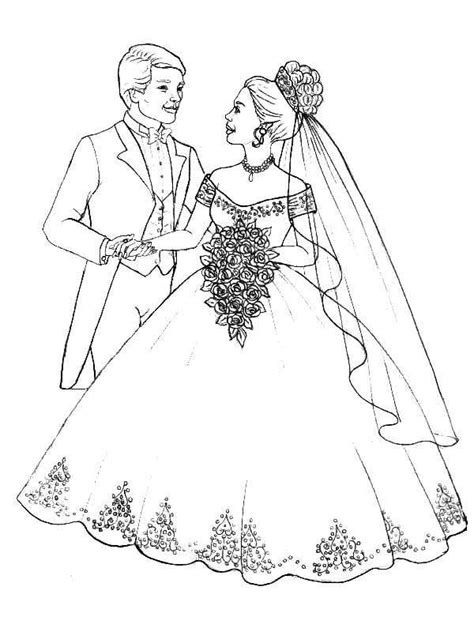 Wedding Flowers Coloring Pages Wedding Bouquet Coloring Pages Coloring Home
