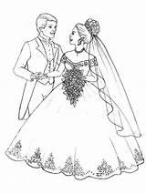 Coloring Wedding Pages Bouquet Flower Popular Coloringhome sketch template