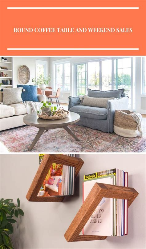 Coffee shop serving iced beverages. Lake house family room/ tv room. Round coffee table, rust colored vintage rug, white couches diy ...