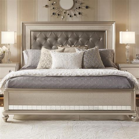 tufted bed king samuel king panel bed w tufted headboard 2959