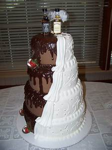 His & Hers Wedding Cake - CakeCentral com