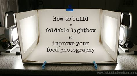 foam board light box how to build a foldable lightbox food photography