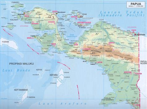 amazing indonesia map  papua irian island