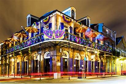Orleans Quarter French Mardi Gras Night Street