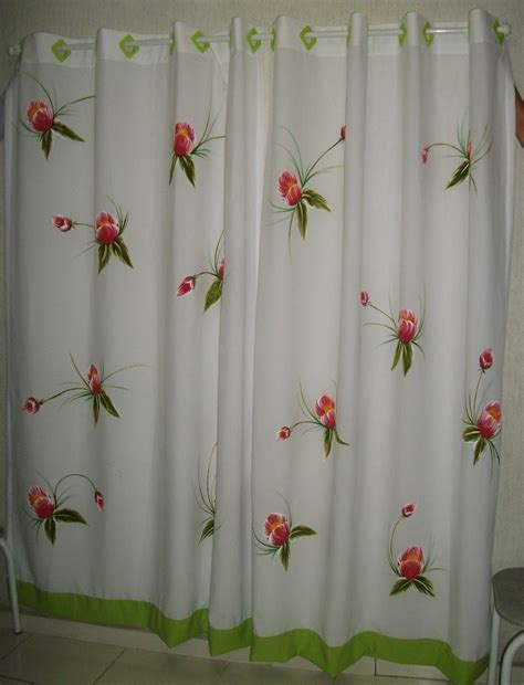 cortinas pintadas dalva taller cia cortina manos pintadas cortinas