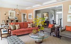 Awe Inspiring Orange Sofa decorating ideas for Living Room