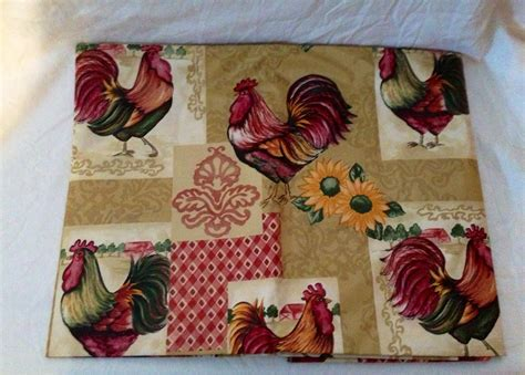 country kitchen table cloth rooster country kitchen tablecloth vinyl 52 quot x70 quot oblong 6151