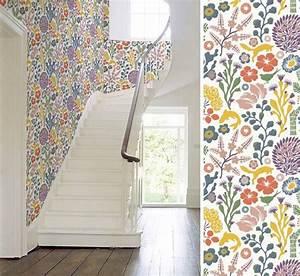 Papier Peint Fleuri : inspirations papiers peints au fil des couleurs paris ~ Premium-room.com Idées de Décoration
