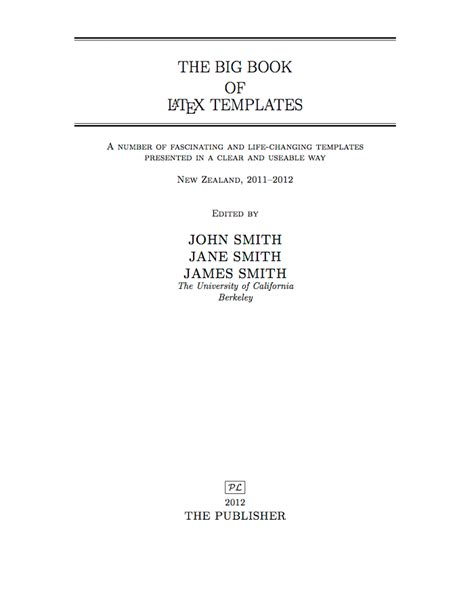 title page template templates 187 formal text rich title page