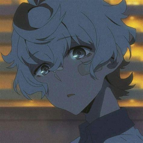 Cool Blue Anime Boy Aesthetic Pfp Rings Art