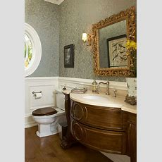Beautiful Traditional Powder Room So Happy To See