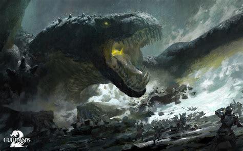 Guild Wars 2 Monster Games battle fantasy warrior dragon ...