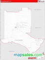 Los Alamos County, NM Zip Code Wall Map Red Line Style by ...